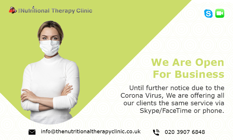 Nutritional Therapy Clinic Corona Popup