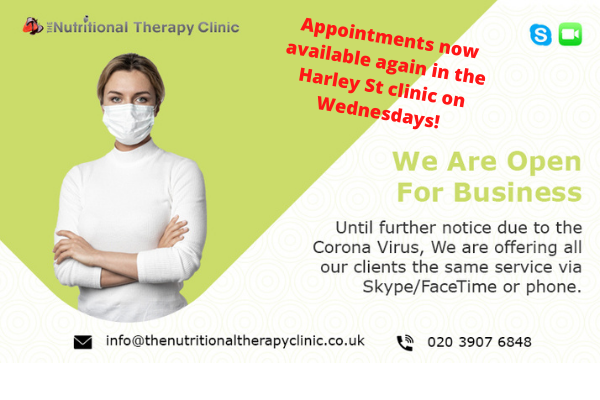 Appointments Now Available Again In The Harley St Clinic On Wednesdays!